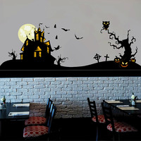 cik1640 Full Color Wall decal halloween coffee shop showcase