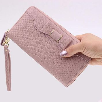 2018 New Wallet For Women Wallet Long Lovely Pu Leather For Women Purse Female Coin Card Clutch Big Capacity For Women Purse Wom