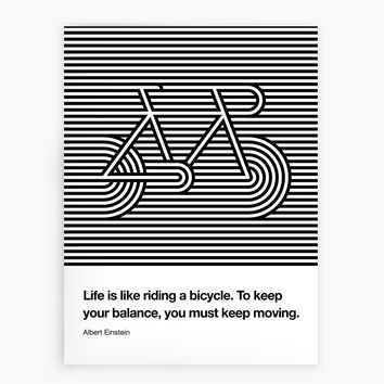 Life Is Like Riding A Bicycle Poster