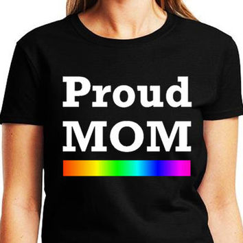 Proud MOM Lgbtq Pride T Shirt Equality Shirt Rainbow Shirt Gay Gift Rainbow Pride Lgbt Shirt Gift For Gay Groom Gift