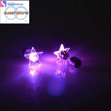 Earrings LED 1 Pair Of Personalized Fashion Dance Party Lights Flashing LED Ear Earring Bright Stud Earrings
