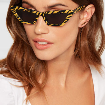 CHIMI - Tiger printed cat-eye acetate sunglasses