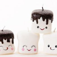 Marshmallow Candles