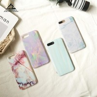 Lizardhill New Luxury Glossy IMD Marble phone Cases For iPhone 7 6 6S Plus Soft Silicone covers For iPhone 6 6s 7 8 Fundas coque