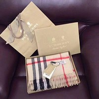 '' BURBERRY '' Woman Accessories Cape Scarf Scarves Apricot I