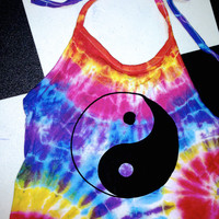 SWEET LORD O'MIGHTY! TIEDYE YINYANG HALTER