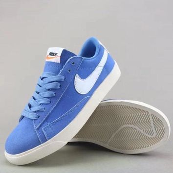 Wmns Nike Blazer Low Sd Fashion Casual Low-Top Shoes-1