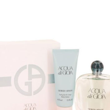 Acqua Di Gioia by Giorgio Armani Gift Set — 3.4 oz Eau De Parfum Spray + 2.5 oz Body Lotion Women