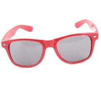 Red Wayfarer Retro Sunglasses