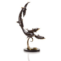 SPI Home Collection - Diving Dolphin Quintet Statue [Kitchen]