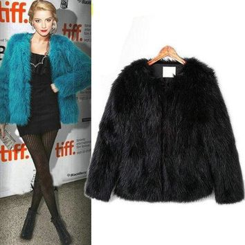 Wholesale! 4XL 5XL Hot sell 2018 New arrival Trendy Candy Faux Fur Coat Women's Fashion Slim Casual Party Jacket Coats PC105