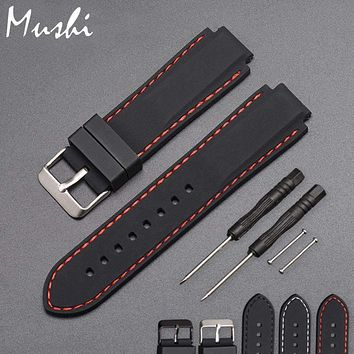 Silicone Rubber Watchband For Timex T49859|T2N720|T2p141|T2n722|723|738|739