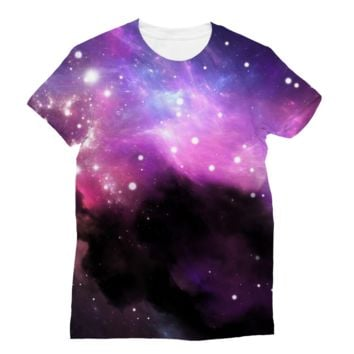 Black Smoky Galaxy Subli Sublimation T-Shirt