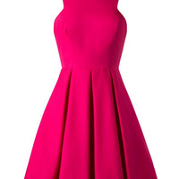 Fuchsia Sleeveless Skater Summer Dress
