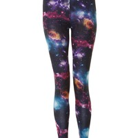 Galactic Print Leggings - Womens Clothing Sale, Womens Fashion, Cheap Clothes Online | Miss Rebel