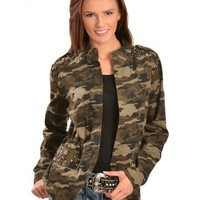 Red Ranch Women's Studded Camo Jacket - Sheplers