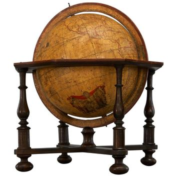 Large 18th Century, French Library Terrestrial Globe by Jean Fortin, Paris, 1780