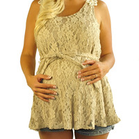 Lace Maternity Tank Tops - Lost In Lace
