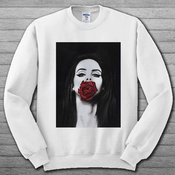 lana del rey red rose for Sweater Sweatshirt # For Women , Men  Sweatshirt