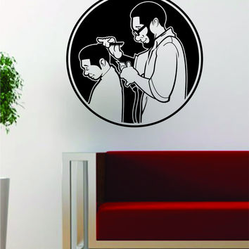 Barber Version 2 Design Barbershop Hair Beauty Salon Decal Sticker Wall Vinyl Art Decor Travel