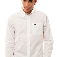 RVCA Buttondown That'll Do Long Sleeve in White