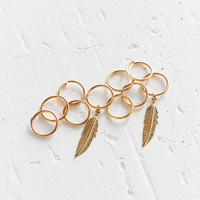 Regal Rose Faroe Feather Braid Ring Set | Urban Outfitters