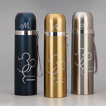 Promotion Mickey Thermos Cup Thermocup Stainless Steel Tumbler Insulated Vacuum Flasks Coffee Travel Mug Drink Bottle Women
