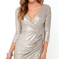 Dancing Fountain Gold Sequin Dress