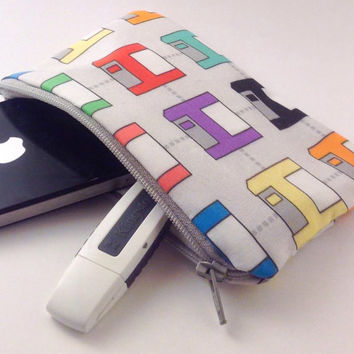 Geeky technology save floppy disk pouch bag phone wallet cosmetic pill