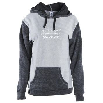 Warrior Black Friday Unisex Color Block Kangaroo Pocket Pullover Hoodie