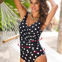 One Piece Swimsuit Women Plus Size Swimwear Retro Vintage Bathing Suits