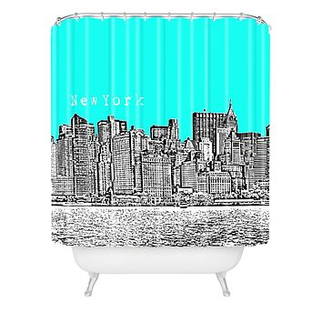Bird Ave New York Aqua Shower Curtain