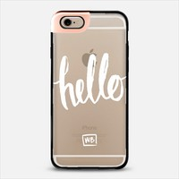 Hello - Transparent iPhone 6 case by Whitney Blake | Casetify