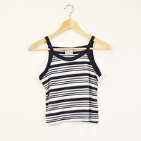 Striped Tank Top, 90s Stripe Tank, 90s Baby Tank, 90s Crop Top, Vintage Tank Top, Soft Grunge Tank Top, Cropped Tank Top