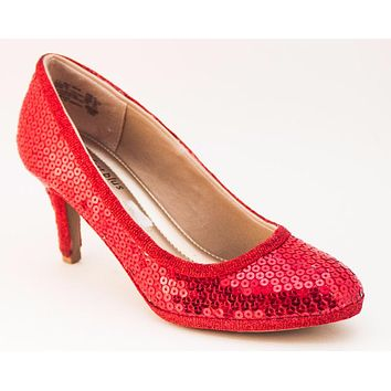 Select Your Color of Big Sequin Princess Pumps Needle Heels