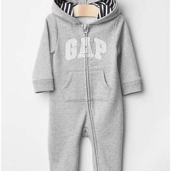 Gap Baby Logo Zip Bear Hoodie One Piece