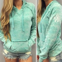Trendy Hooded Long Sleeve Pocket Design Women's Hoodie | Kitty's Clawset