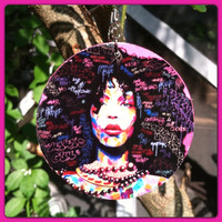 "3"" Erykah Badu Earrings"