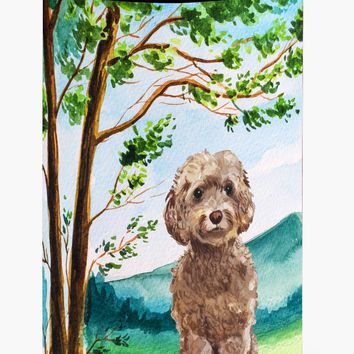 Under the Tree Labradoodle Tall Boy Beverage Insulator Hugger CK2023TBC