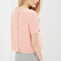 Boxy Scalloped Top
