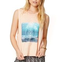 Volcom Killer View Muscle Tank - Womens Tee - Peach