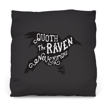 Quoth the Raven Throw Pillow