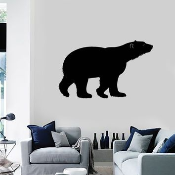 Vinyl Wall Decal Polar Bear Animal Silhouette Tribal Art Predator Stickers Mural (ig5254)