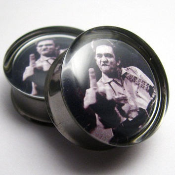 Johnny Cash Plugs 0g, 00g, 7/16, 1/2, 9/16, 5/8, 3/4, 7/8, 1 inch