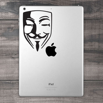 Guy Fawkes / Anonymous iPad Decal