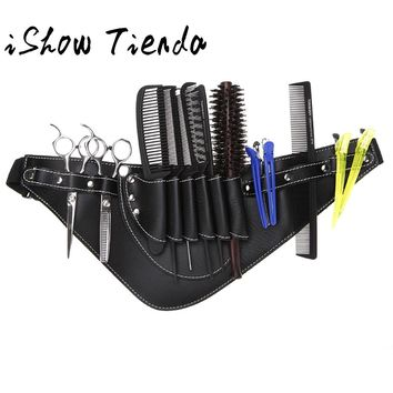 PU leather Scissors Bag Scissor Clips Shears Shear Bags Tool Hairdressing Holster Pouch Holder Case Belt