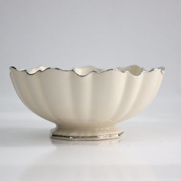 Lenox Sculptured Bowl / Symphony Platinum / Fine Bone China