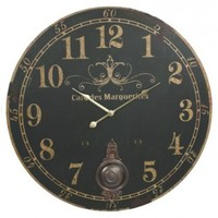 "23"" Cafe des Marguerites Wall Clock with Pendulum"