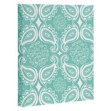 Heather Dutton Plush Paisley SeaSpray Art Canvas