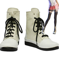Final Fantasy XIII FF13 Serah Farron Cosplay Boots Shoes *Custom-made*